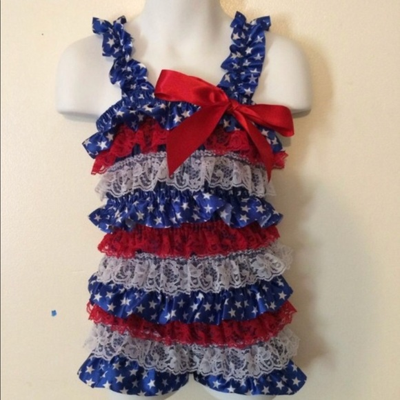 c2ebdac6bfd54 One Pieces | Final Sale 4th Of July American Flag Baby Romper | Poshmark